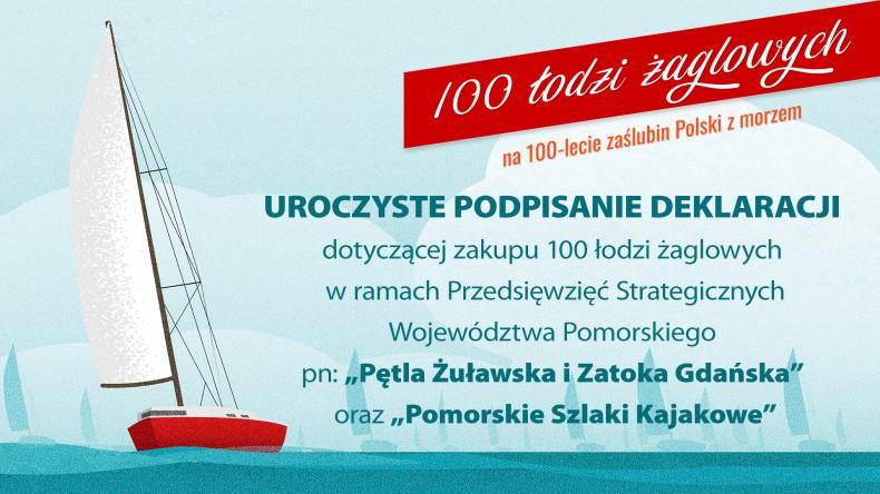 100 łodzi żaglowych na 100-lecie zaślubin Polski z morzem - GospodarkaMorska.pl