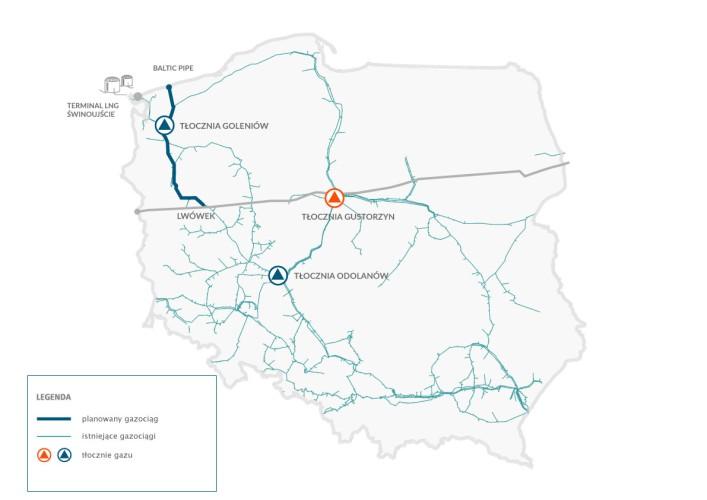 Baltic Pipe: tłocznia Gustorzyn z pozwoleniem na budowę - GospodarkaMorska.pl