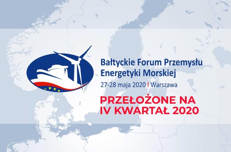 Bałtyckie Forum Przemysłu Energetyki Morskiej 2020 przełożone - GospodarkaMorska.pl