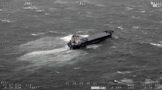 Norweski statek towarowy osiadł na mieliźnie u wybrzeży Szkocji - GospodarkaMorska.pl