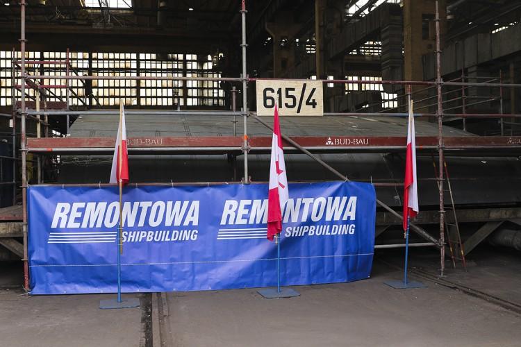 Stępka pod budowę czwartego promu dla BC Ferries w Remontowa Shipbuilding SA - GospodarkaMorska.pl