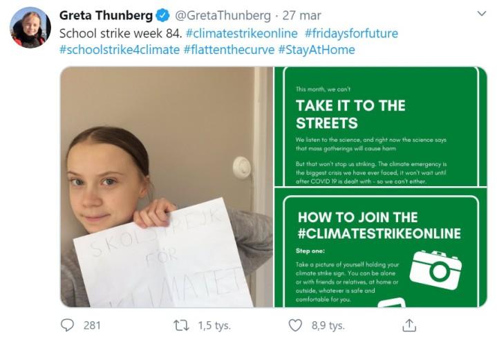 Greta Thunberg protestuje w mediach społecznościowych - GospodarkaMorska.pl
