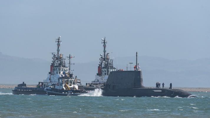 HMS Audacious wyrusza do swojej macierzystej bazy - GospodarkaMorska.pl