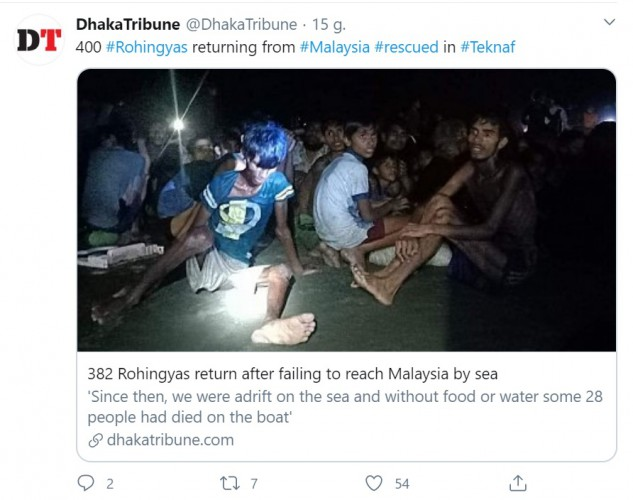 Ponad 24 Rohingjów zmarło po tygodniach błąkania się po morzu - GospodarkaMorska.pl