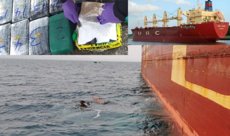 Skrzynka z kokainą przymocowana do kadłuba statku towarowego - GospodarkaMorska.pl