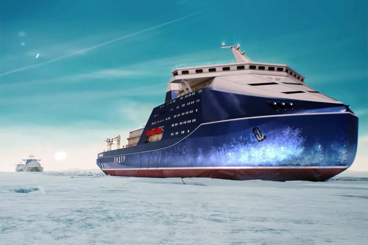 Rosyjskie firmy zbudują najpotężniejszy lodołamacz napędzany energią jądrową (wideo) - GospodarkaMorska.pl