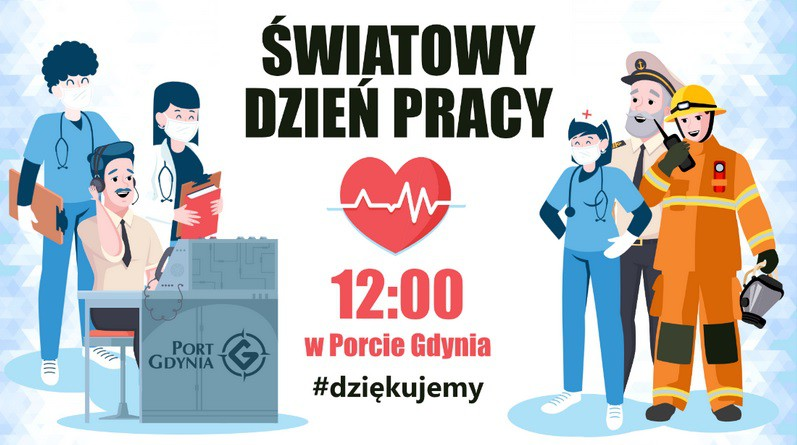 Światowy Dzień Pracy - dołącz do podziękowań dla służb medycznych - GospodarkaMorska.pl