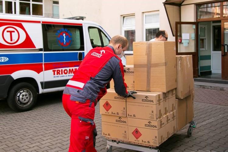 PKN Orlen przekazał respiratory i środki ochrony szpitalom w Warszawie i w Płocku - GospodarkaMorska.pl