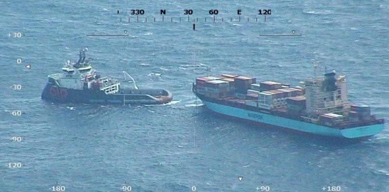 Statek Maerska stracił moc po pożarze na Morzu Karaibskim - GospodarkaMorska.pl