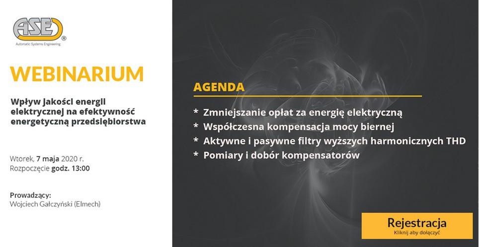 Webinarium ASE: Wpływ jakości energii elektrycznej na efektywność energetyczną przedsiębiorstwa - GospodarkaMorska.pl