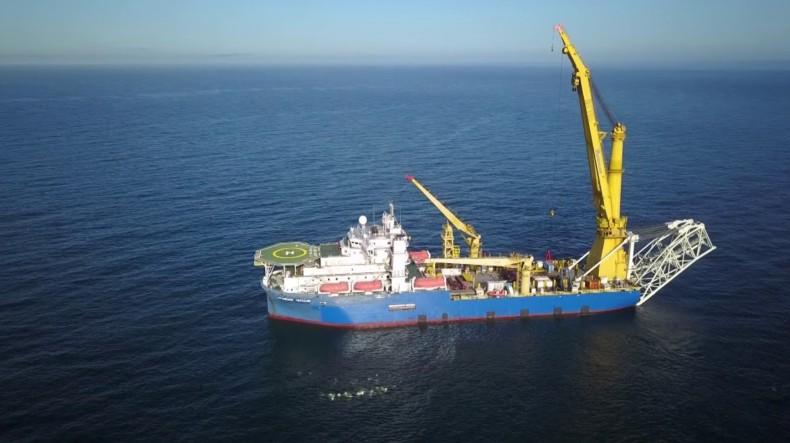 Raosyjska agencja TASS: statek, który może dokończyć Nord Stream 2 jest koło Rugii - GospodarkaMorska.pl