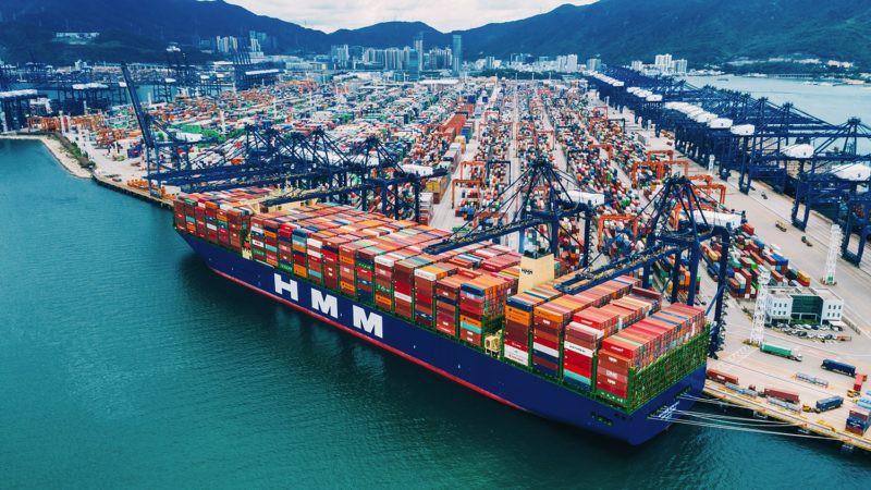 Największy kontenerowiec świata opuścił Chiny z rekordowym ładunkiem - GospodarkaMorska.pl
