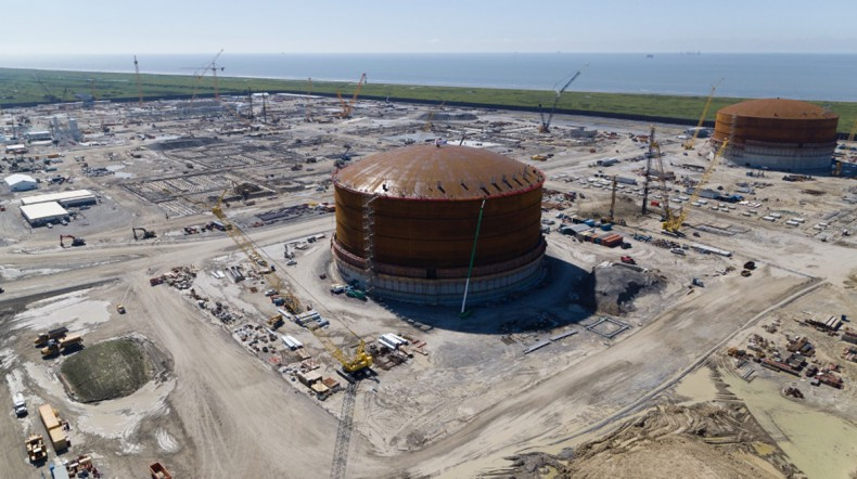 Zakończono budowę drugiego zbiornika LNG amerykańskiego partnera PGNiG - GospodarkaMorska.pl