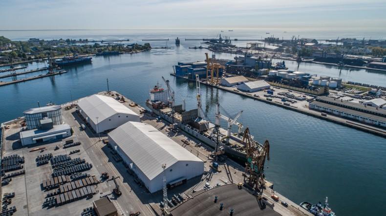 Załadunek olbrzymich szpul w OT Port Gdynia (foto, wideo) - GospodarkaMorska.pl
