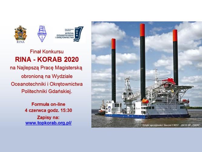 Finał Konkursu RINA-KORAB 2020 na najlepszą pracę magisterską - GospodarkaMorska.pl