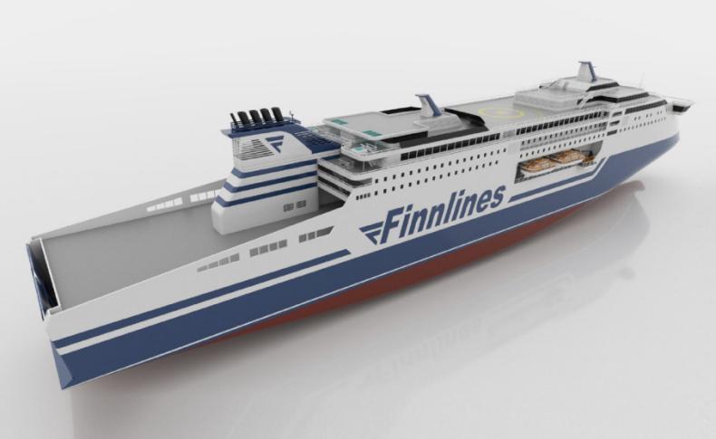 Deltamarin wybrany na projektanta ekologicznych promów RoPax Finnlines - GospodarkaMorska.pl