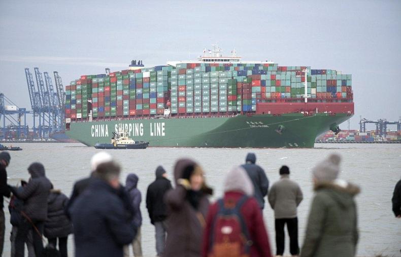 Tak wygląda największy kontenerowiec świata - GospodarkaMorska.pl