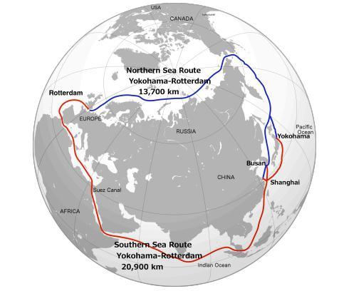 Przejście Północno-Wschodnie główną nitką handlową na świecie? Zależy od topnienia lodowców - GospodarkaMorska.pl
