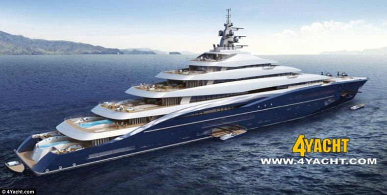 Zobacz zdjęcia super jachtu, który zdetronizuje dzisiejszych rekordzistów. Double Century będzie miał 200 metrów długości - GospodarkaMorska.pl