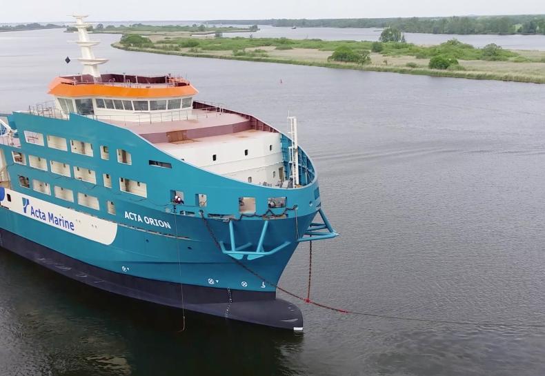 Partner Stocznia przekazała kadłub statku Holendrom (WIDEO) - GospodarkaMorska.pl