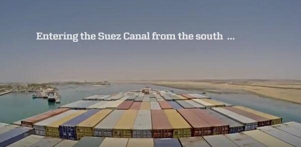 163 km w 3 minuty. Time-lapse z podróży po Nowym Kanale Sueskim - GospodarkaMorska.pl