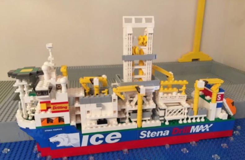 Pasjonat zbudował statek z klocków Lego (WIDEO) - GospodarkaMorska.pl