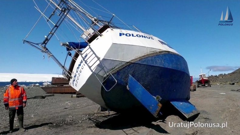 Niesamowita akcja Polaków. Naprawiają statek w mrozach Antarktydy - GospodarkaMorska.pl