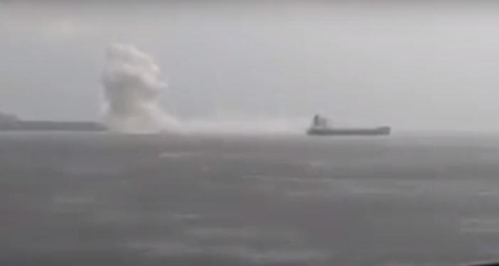 Eskplozja w ładowni masowca (wideo) - GospodarkaMorska.pl