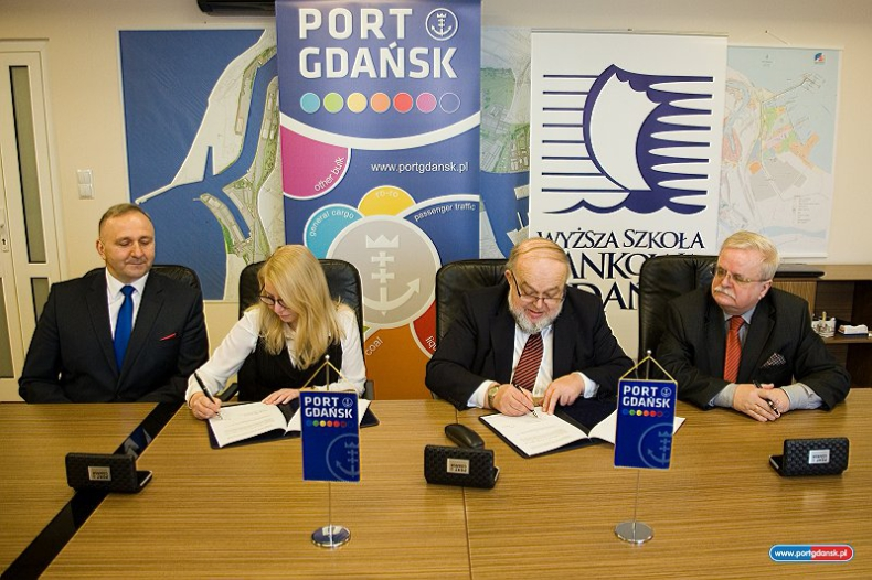 Port Gdańsk zawarł porozumienie o współpracy z Wyższą Szkołą Bankową - GospodarkaMorska.pl