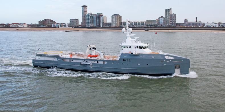 Unikatowa jednostka opuściła dok Damen Shipyards Gdynia - GospodarkaMorska.pl