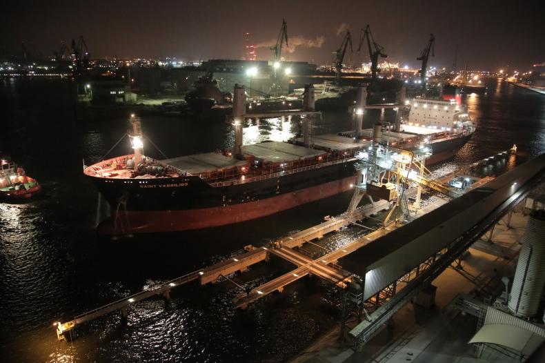 Rekord! Do GBT przypłynął największy dotąd statek pod załadunek pszenicy Glencore - GospodarkaMorska.pl