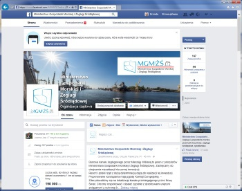 Oficjalne konta ministerstwa gospodarki morskiej na Twitterze i Facebooku - GospodarkaMorska.pl