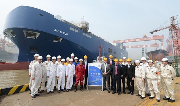 Pierwszy statek ro-ro z napędem LNG już na wodzie - GospodarkaMorska.pl