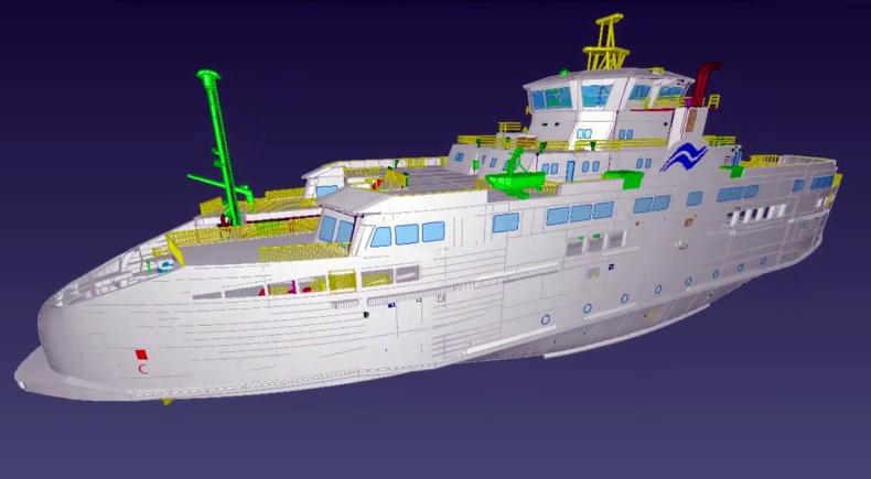 Remontowa Marine Design & Consulting nagrodzona za animację 3D promów (wideo) - GospodarkaMorska.pl