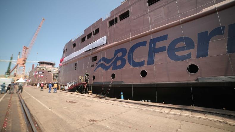Chrzest dwóch nowoczesnych promów w Remontowa Shipbuilding (wideo) - GospodarkaMorska.pl
