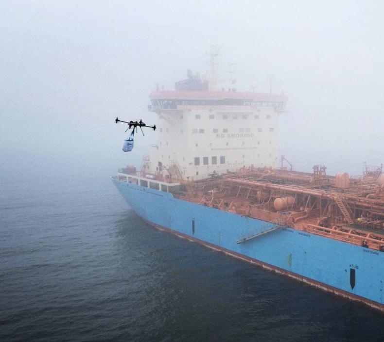 Maersk użyje dronów do zaopatrywania swoich statków - GospodarkaMorska.pl