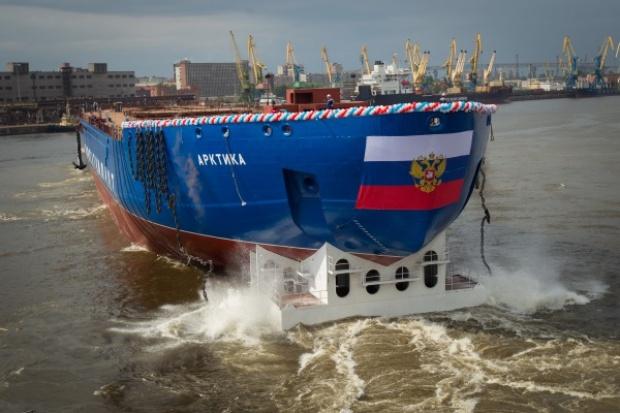 Największy lodołamacz atomowy zwodowano w Rosji (wideo) - GospodarkaMorska.pl