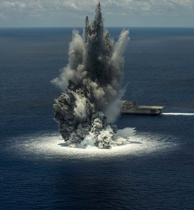 Tak wygląda eksplozja 5-tonowego ładunku wybuchowego (wideo) - GospodarkaMorska.pl