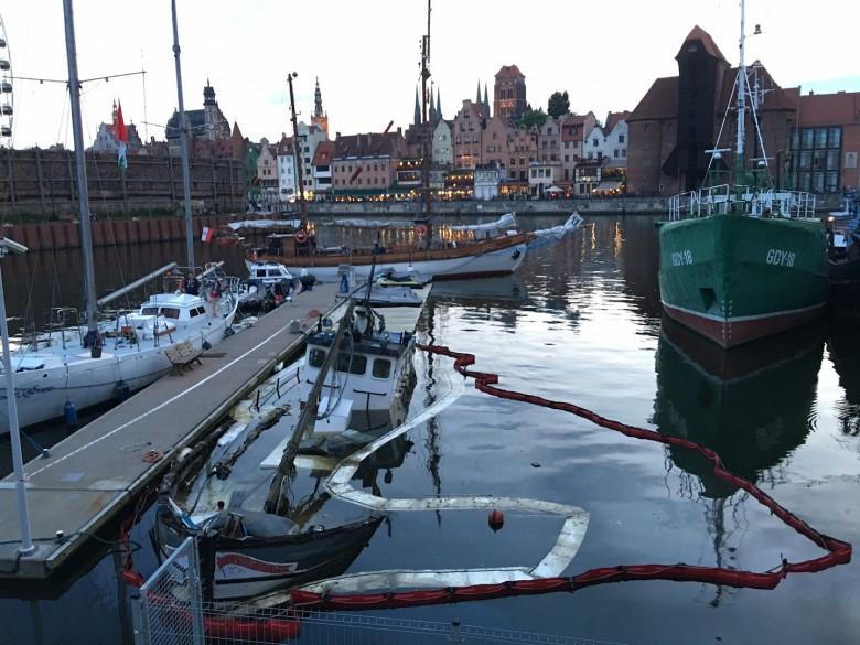 Jest decyzja w sprawie zatopionej łodzi w gdańskiej marinie - GospodarkaMorska.pl