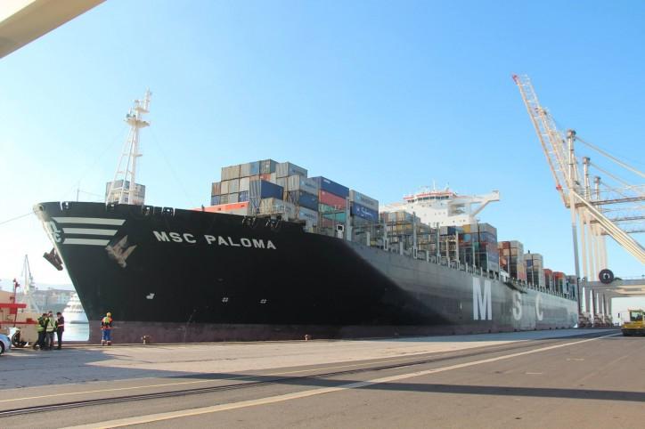 MSC Paloma największym kontenerowcem, który odwiedził Adriatyk - GospodarkaMorska.pl