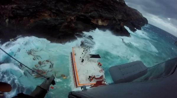 W Grecji statek z polskimi marynarzami osiadł na mieliźnie (foto, wideo) - GospodarkaMorska.pl