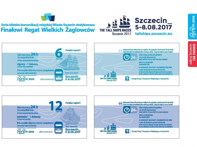Szczecin: olbrzymie żaglowce na biletach komunikacji miejskiej - GospodarkaMorska.pl