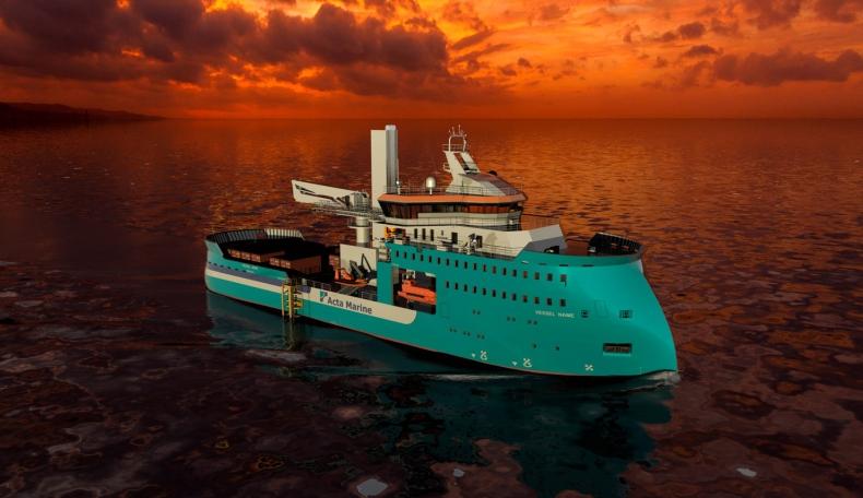 Ulstein i Acta Marine będą współpracować przy budowie specjalistycznego statku typu CSV - GospodarkaMorska.pl
