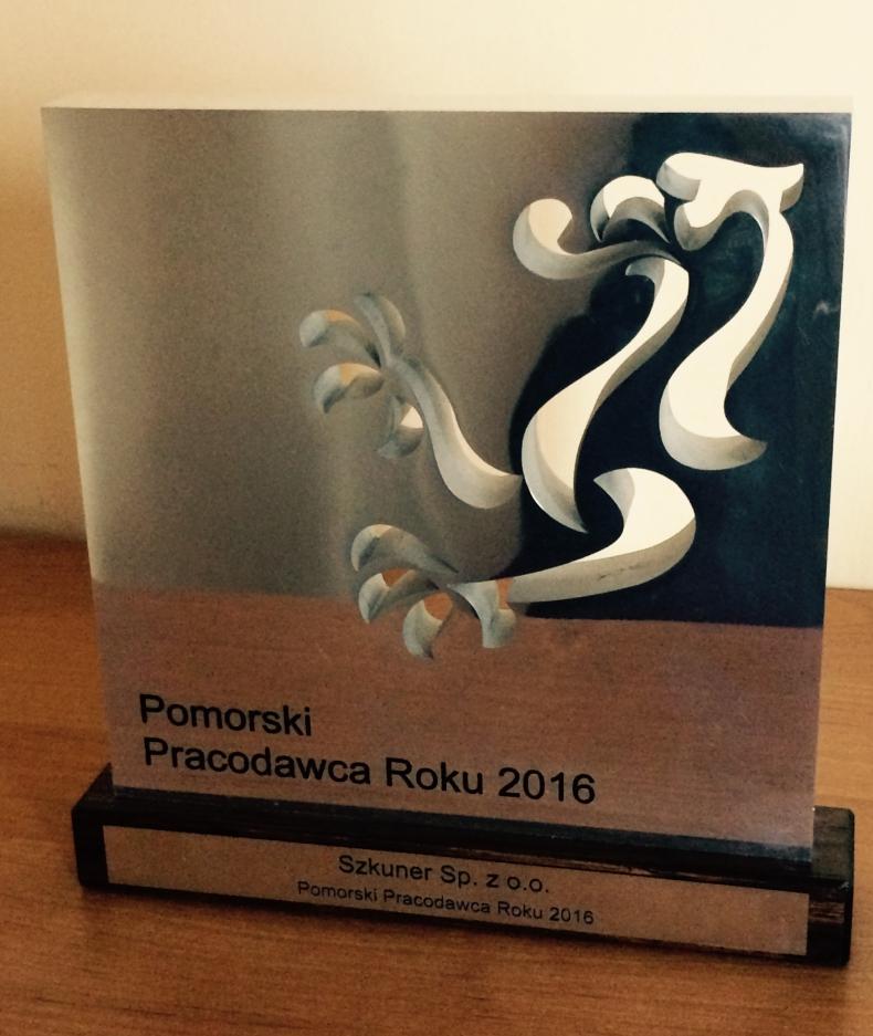 Szkuner najlepszym pracodawcą 2016 r. - GospodarkaMorska.pl