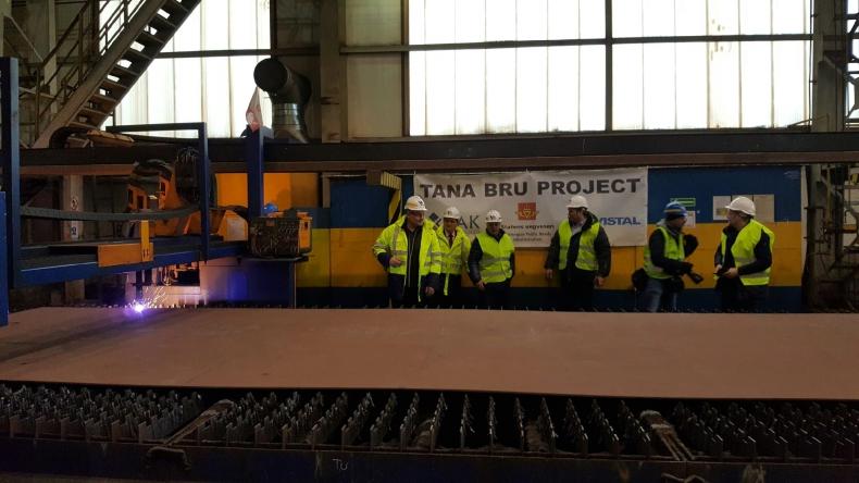 Inauguracja projektu 260-metrowego mostu w Norwegii realizowanego przez Vistal Gdynia - GospodarkaMorska.pl