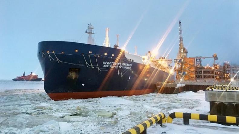 Pierwszy na świecie gazowiec-lodołamacz rozpoczął pracę - GospodarkaMorska.pl