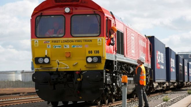 Pierwszy pociąg towarowy wyruszył do Chin spod Londynu - GospodarkaMorska.pl