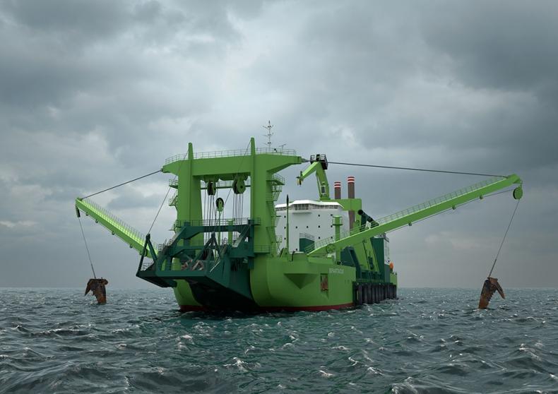 W holenderskiej stoczni powstaje najpotężniejsza pogłębiarka na świecie - GospodarkaMorska.pl