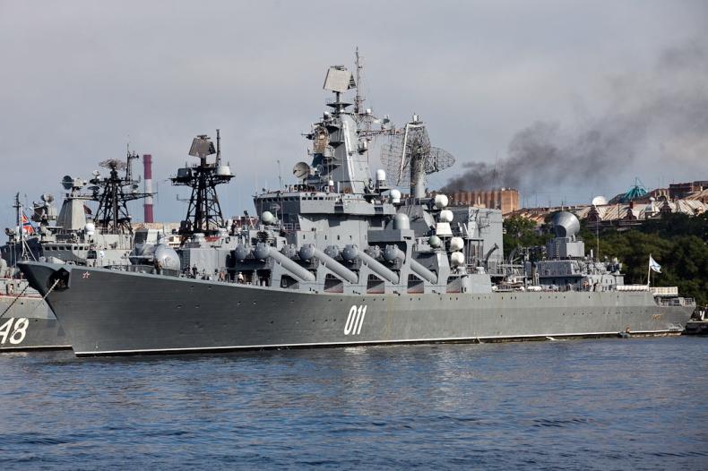 Rosyjski krążownik rakietowy z wizytą w Manili - GospodarkaMorska.pl