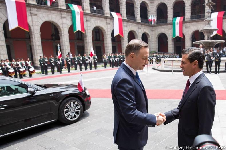 Prezydent Duda zapowiada pogłębianie współpracy gospodarczej z Meksykiem - GospodarkaMorska.pl